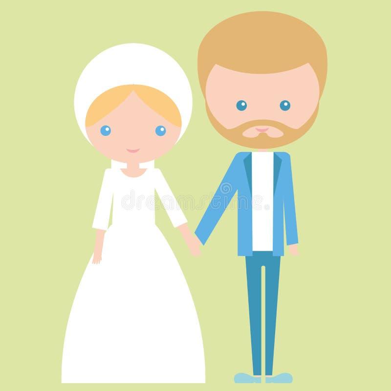 婚姻浪漫夫妇的爱的庆祝 皇族释放例证