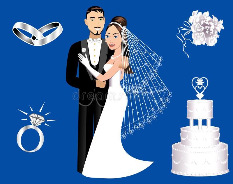 婚姻的图标 向量例证