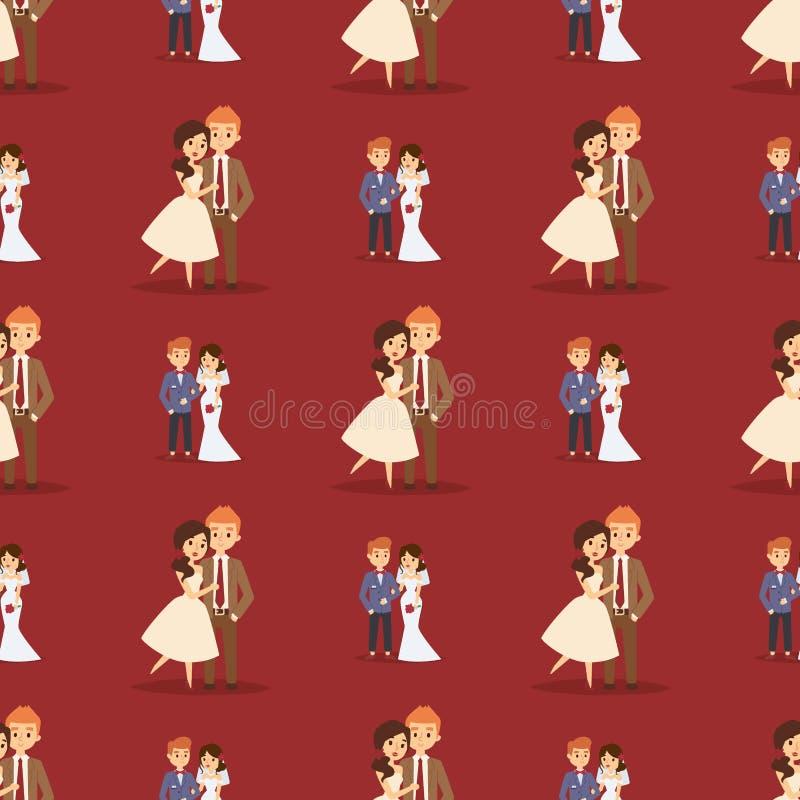 婚姻的夫妇互相拥抱白礼服和人的传染媒介无缝的样式女孩衣服有新郎的图片