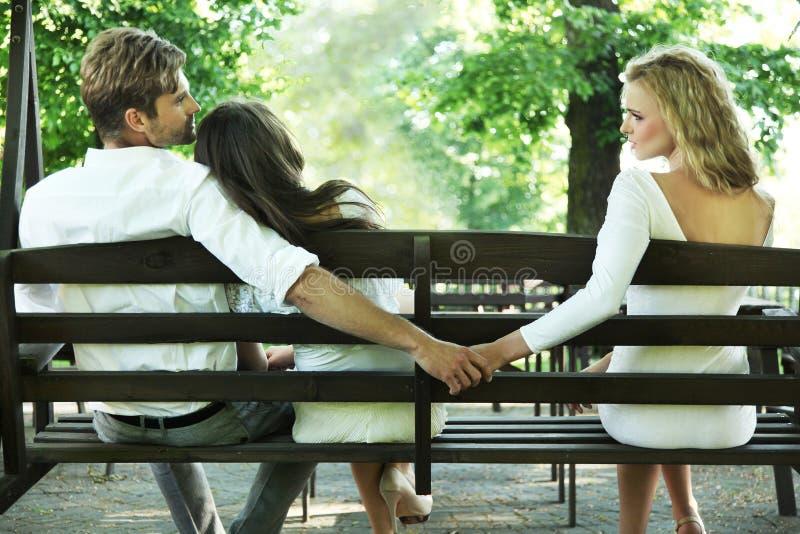 婚姻的失真 免版税库存照片