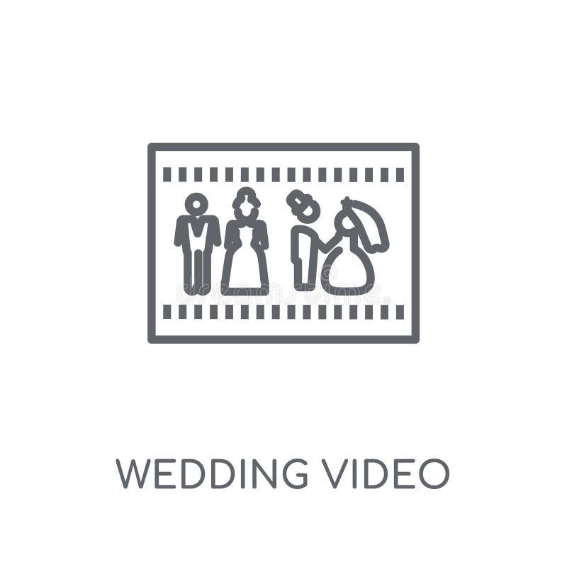 婚姻的录影线性象 现代概述婚姻的录影商标骗局 库存例证