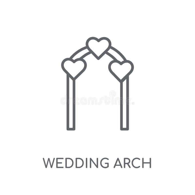 婚姻的曲拱线性象 现代概述婚礼曲拱商标conce 库存例证