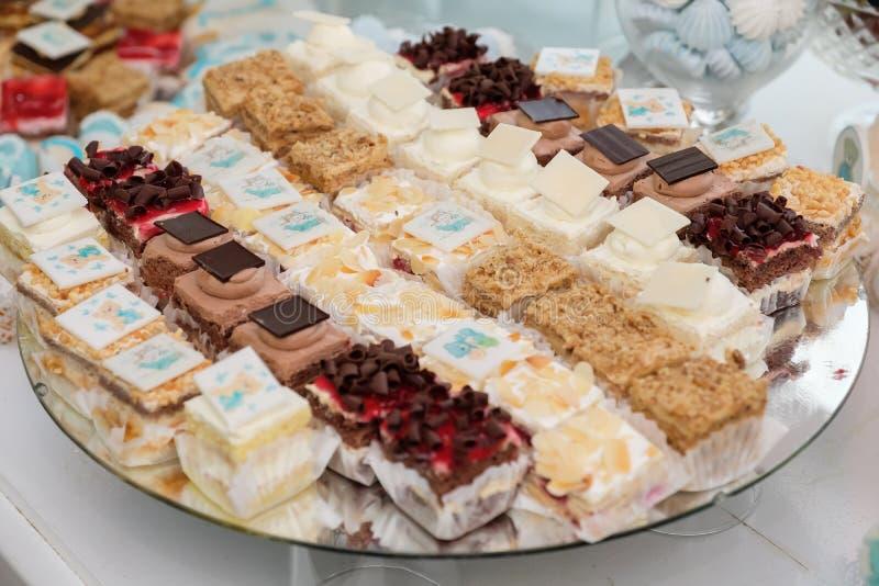 婚姻的桌蛋糕 库存照片
