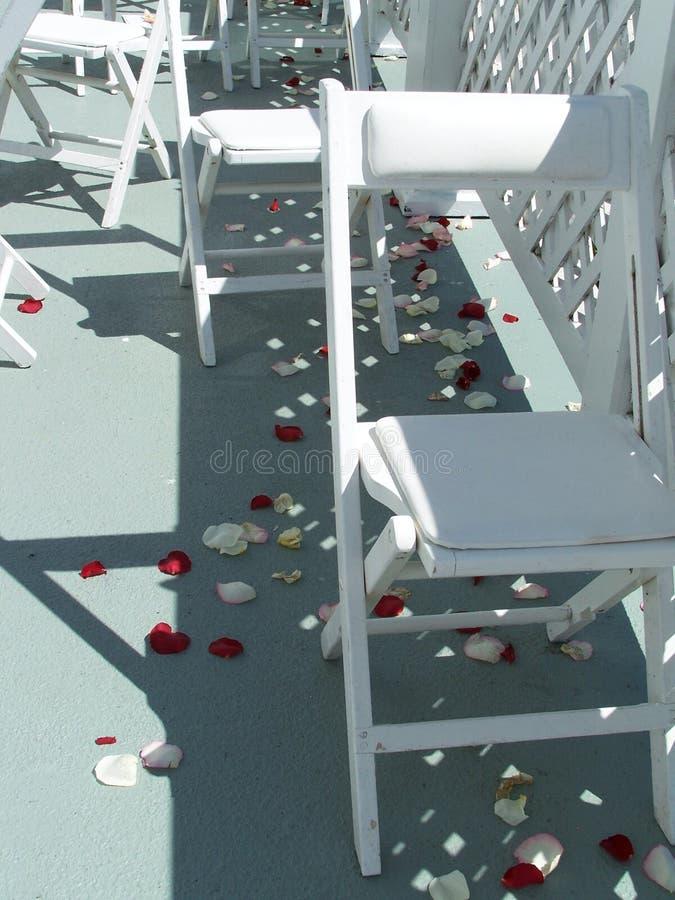 婚姻的椅子 免版税库存照片