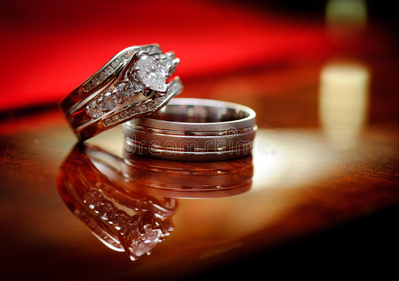 婚姻的环形 库存图片