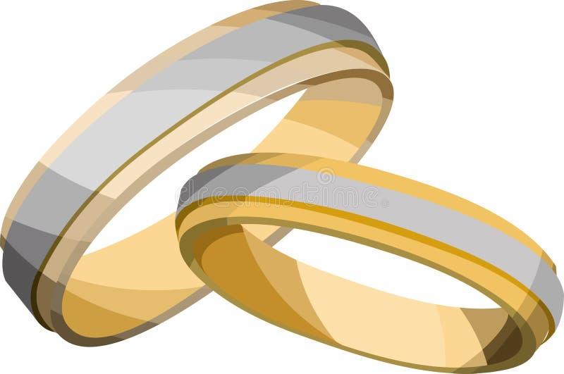 婚姻的环形 向量例证
