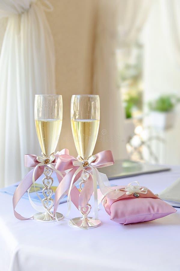 婚姻的玻璃 库存照片