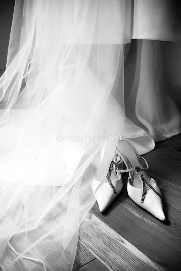 婚姻的礼鞋 免版税库存照片