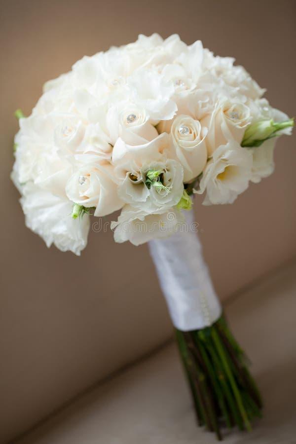 婚姻花束的空白玫瑰 免版税库存图片