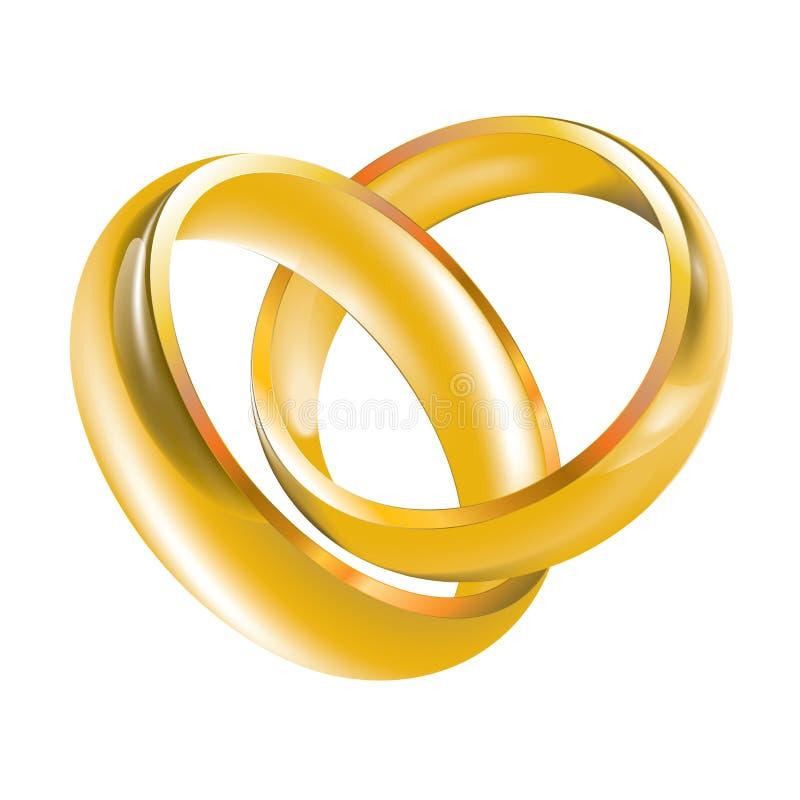 婚姻范围的环形 向量例证