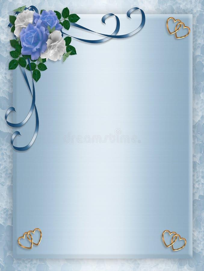 婚姻蓝色邀请当事人的玫瑰 皇族释放例证