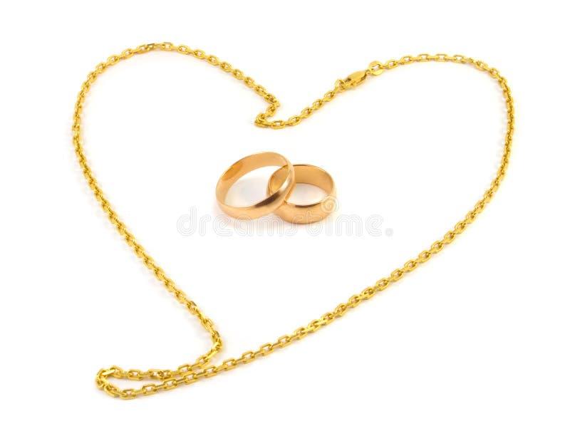 婚姻金黄的环形 图库摄影