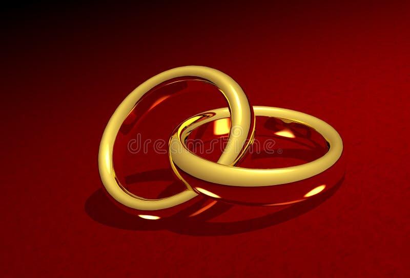 婚姻链接的环形 库存例证