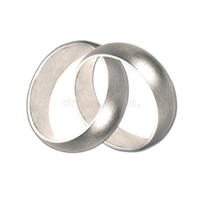 婚姻链接的环形 库存图片