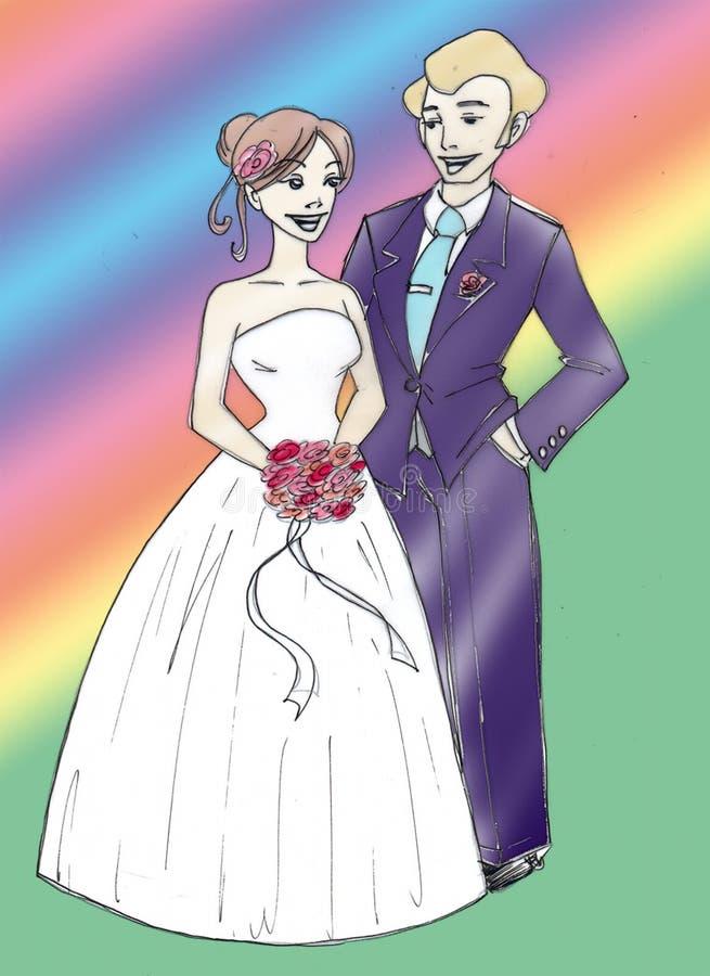 婚姻 皇族释放例证