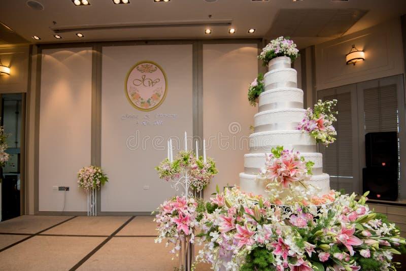 婚宴喜饼,婚礼辅助部件工具 库存照片