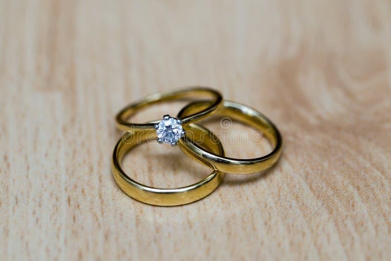 婚戒或婚礼乐队 免版税库存照片