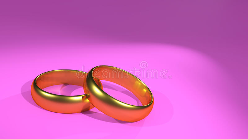 婚戒桃红色邀请卡片 皇族释放例证