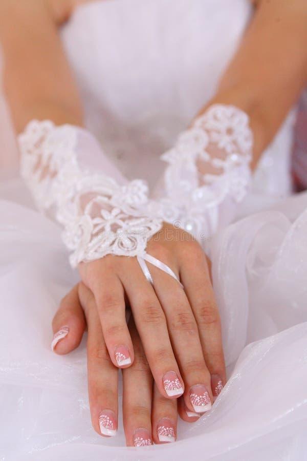 婚戒黑白照片 免版税图库摄影