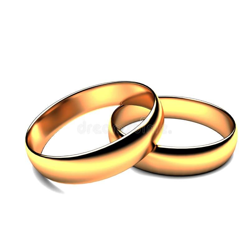 婚戒3D 免版税库存图片