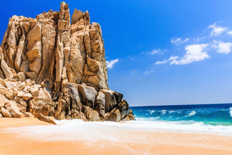 离婚海滩在Cabo圣卢卡斯,墨西哥 库存图片