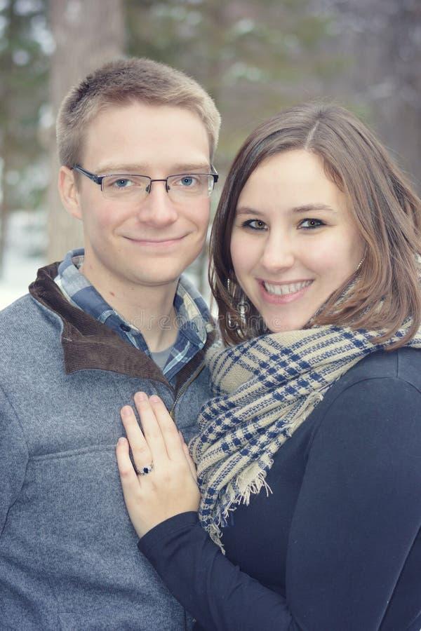 结婚的夫妇愉快 图库摄影