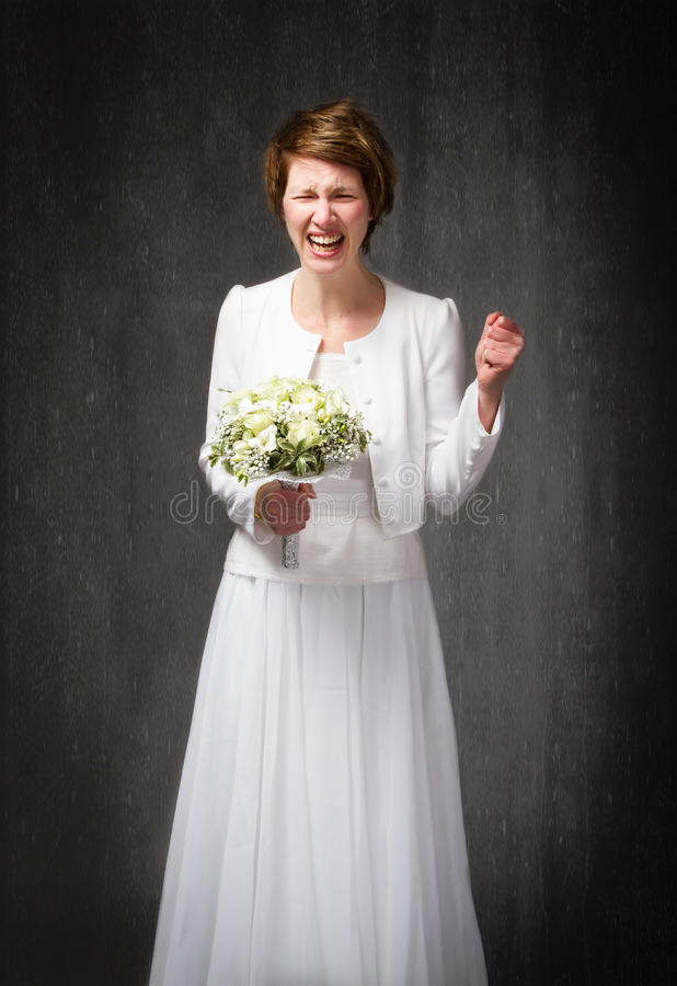 婚礼之日哭泣 库存图片