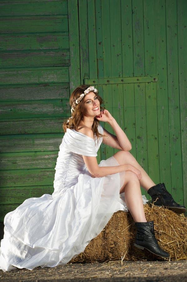 婚礼之日微笑 图库摄影