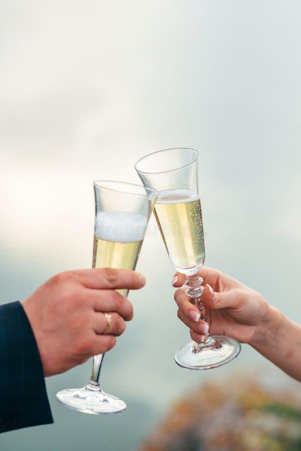 婚礼之日的庆祝 免版税库存图片