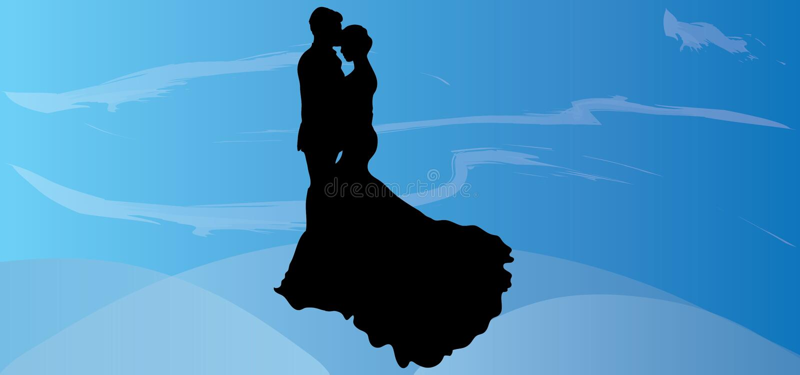 婚礼传染媒介夫妇剪影华伦泰图片eps例证浪漫图象爱图表亲吻背景 库存例证