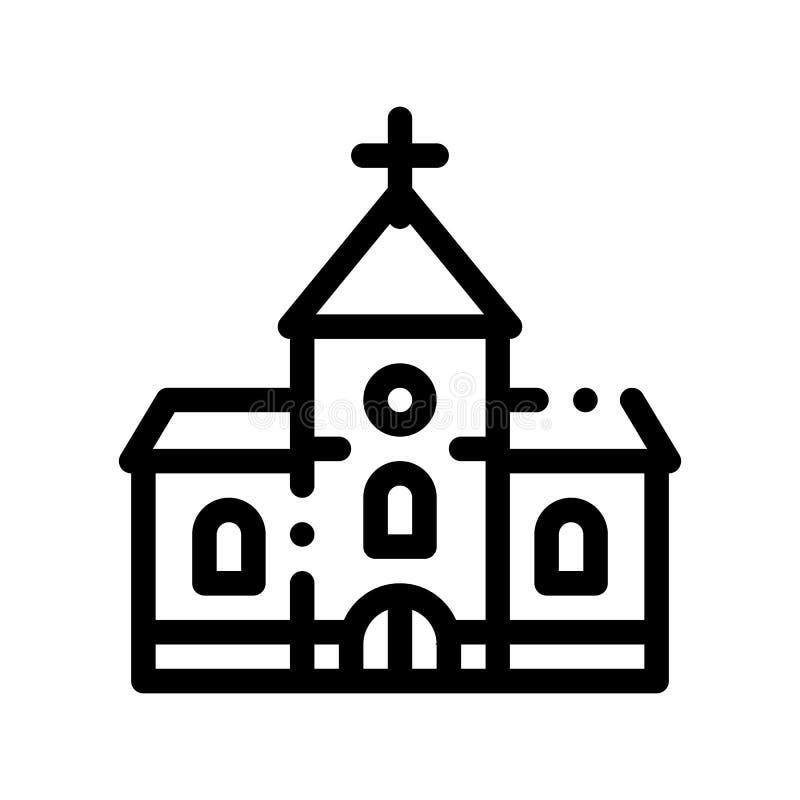 婚礼传染媒介象的教堂 库存例证