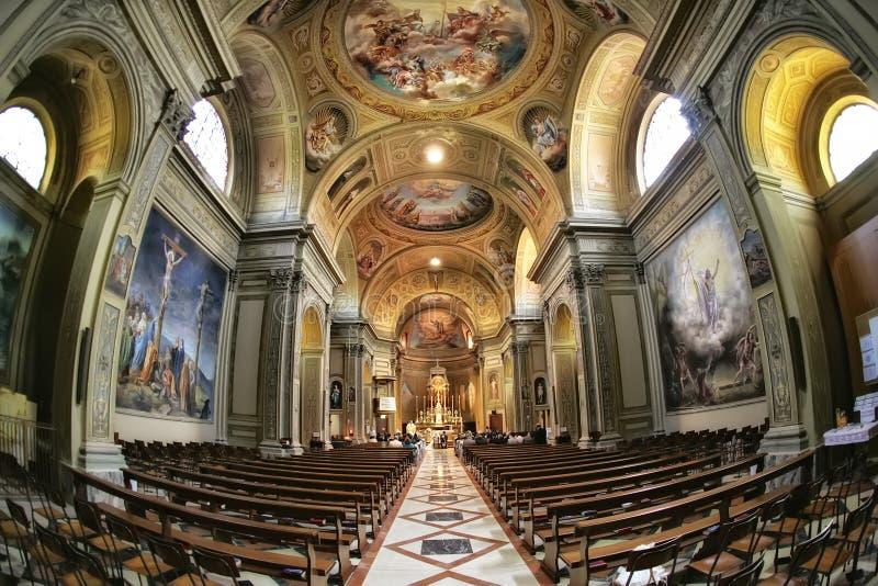 婚礼在教会里在罗马 图库摄影