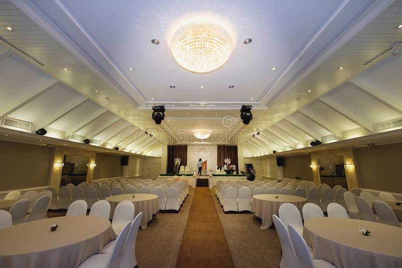 婚礼大厅或其他作用设施 免版税库存照片