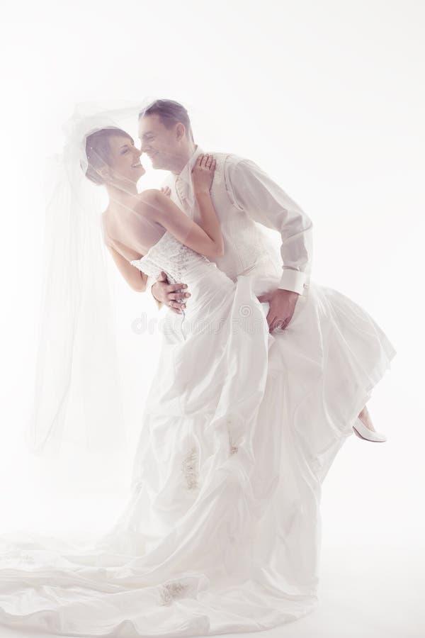 婚礼夫妇跳舞   免版税图库摄影