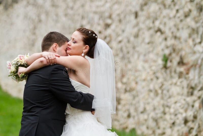 婚礼夫妇 免版税库存照片