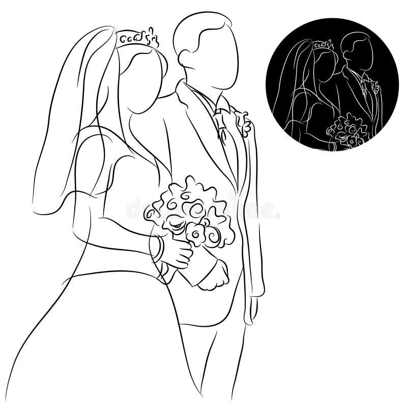 婚礼夫妇 向量例证