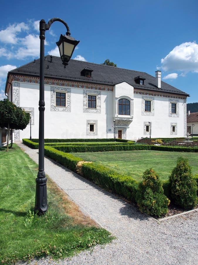 婚礼宫殿在Bytca,斯洛伐克 免版税库存照片