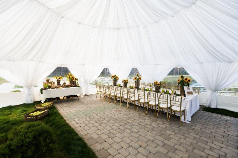 婚礼帐篷 免版税库存照片