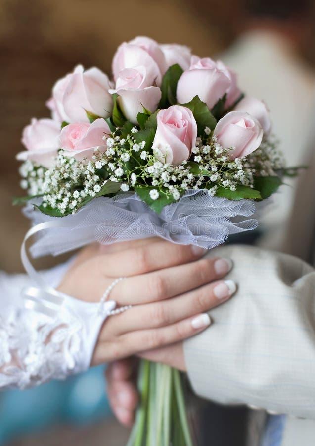 婚礼手 免版税库存图片