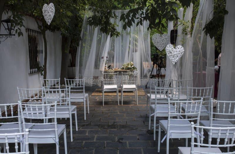 婚礼无宗教的仪式的安排站点 库存照片
