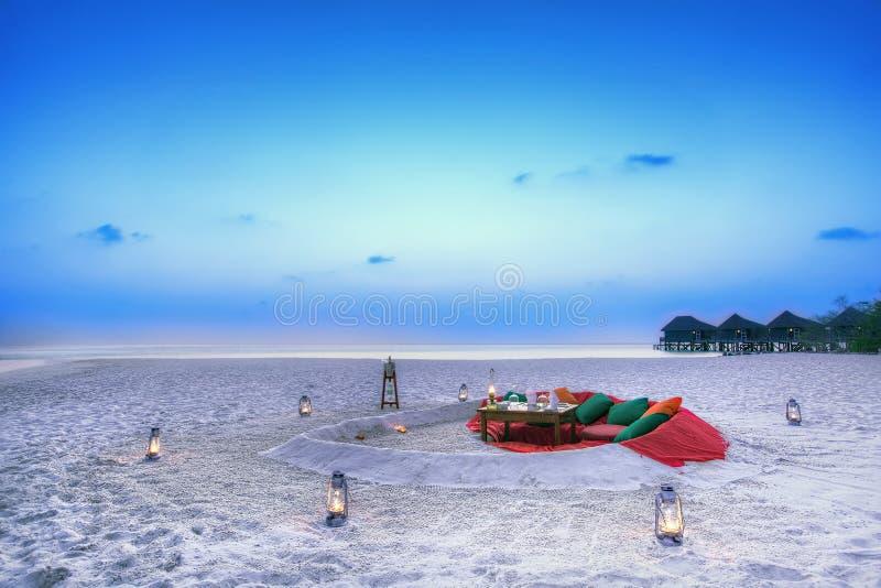 婚礼早餐,马尔代夫 免版税库存图片