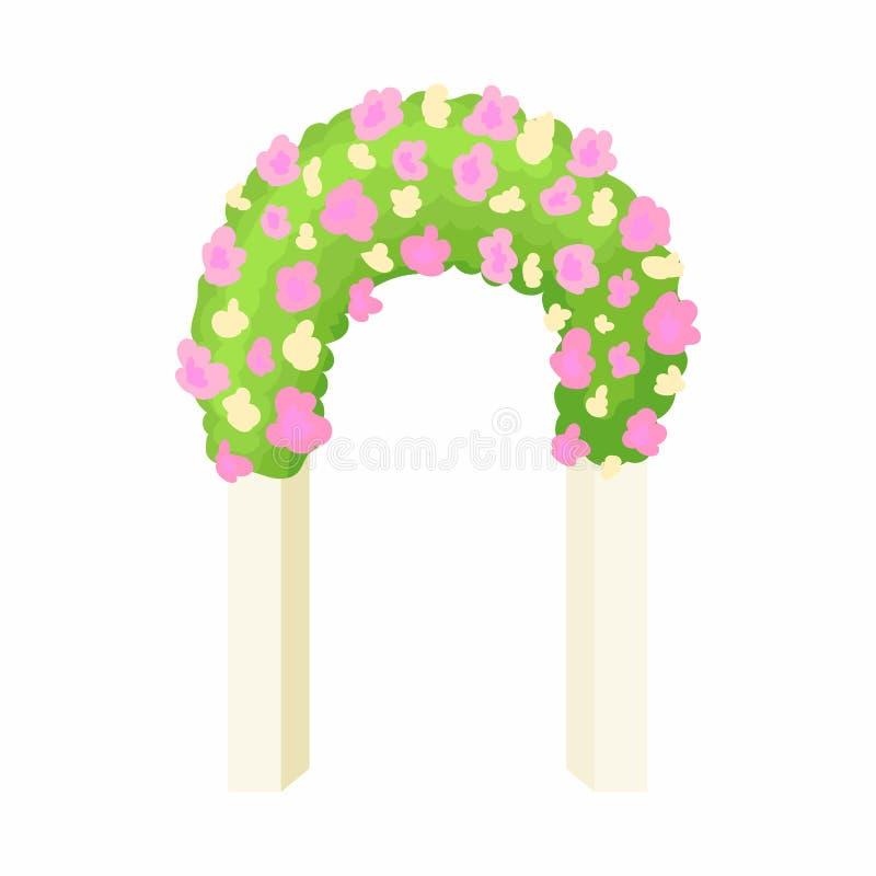 婚礼曲拱象,动画片样式 向量例证