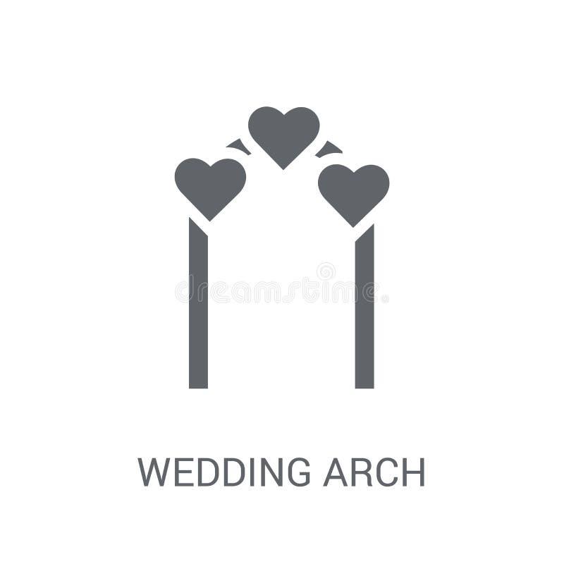 婚礼曲拱象  向量例证
