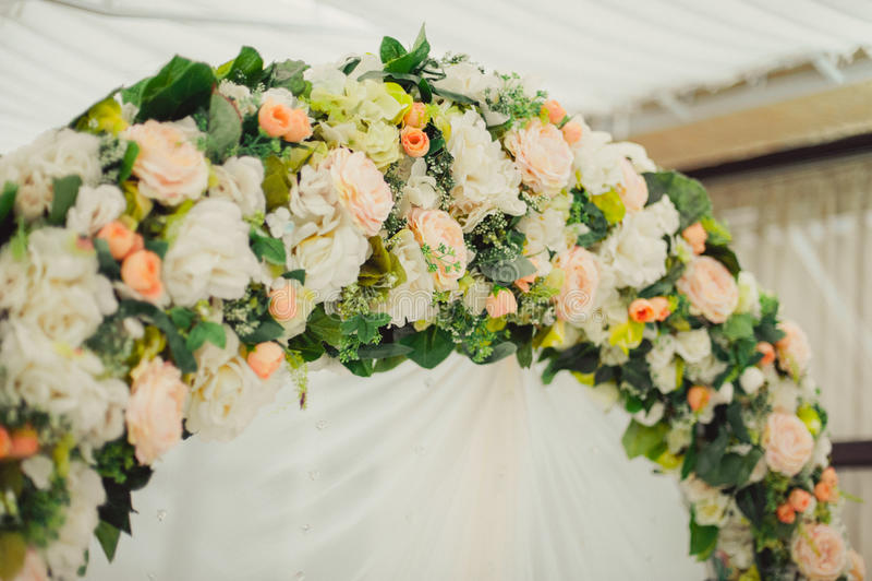婚礼曲拱仪式 库存图片