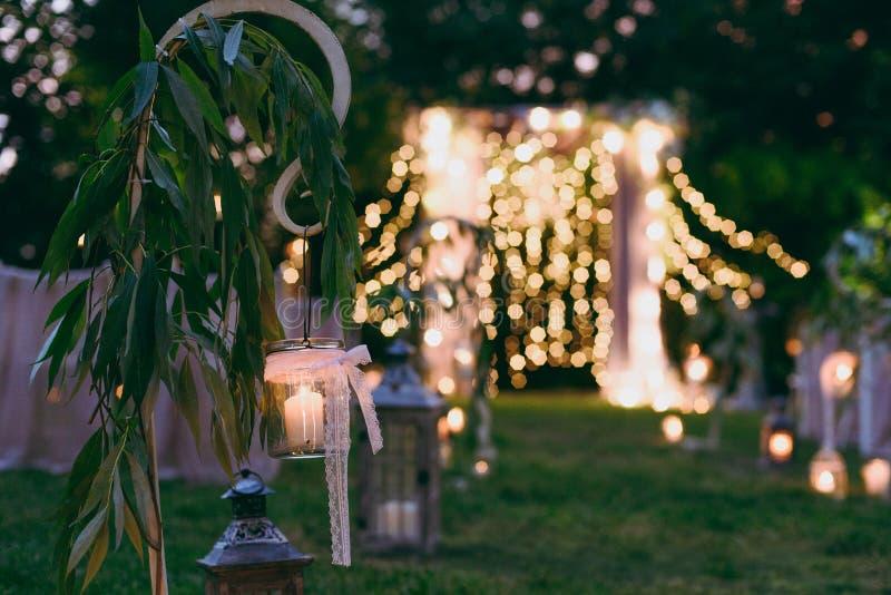 婚礼曲拱仪式 免版税库存照片