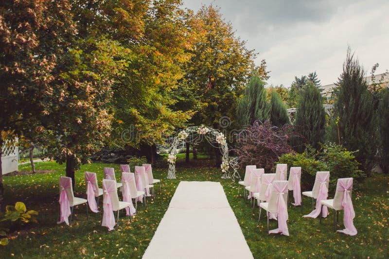 婚礼曲拱仪式 图库摄影