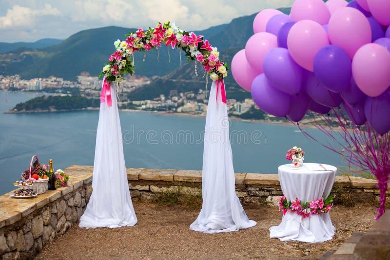 婚礼曲拱 库存照片