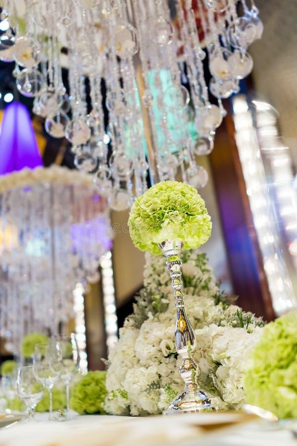 婚礼桌 库存图片