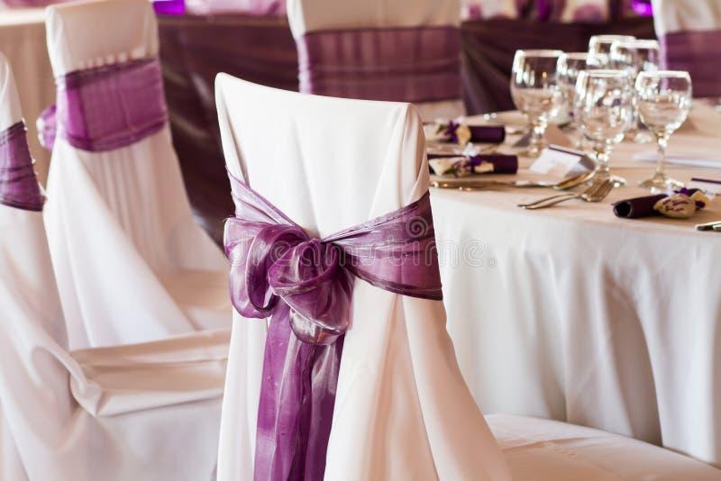 婚礼椅子 图库摄影