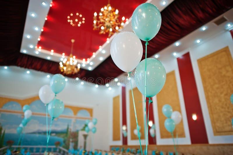 婚礼气球 免版税库存照片